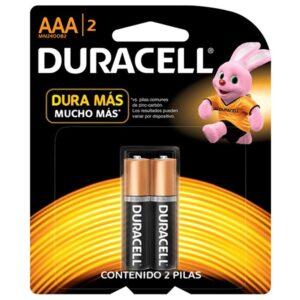 Pilas Duracell AAA por 2 unidades