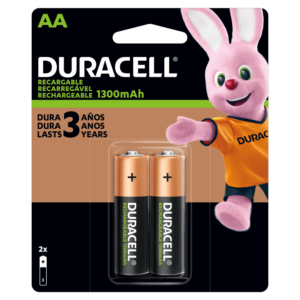 Pilas Duracell Recargable AA por 2 Unidades
