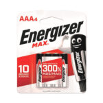 Pilas Energizer Max AAA x 4 unidades